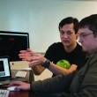 """Randy Plavajka   Banner Christopher Chen (left) and Aaron Renfroe, both sophomore software engineering majors, discuss updates for Renfroe's """"ChApocalypse."""""""