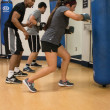 Lauren Shelburne   Banner Traivon Williams, senior music education major, trains Danica Kinne, sophomore anthropology and psychology double major, in his Boxing Bootcamp class.