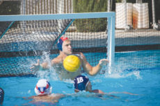 [Reagan Lee   Banner] Joseph Moorman, senior psychology major and goalie, blocks a shot Sept. 30 in the Lancer Invitational against Citrus College. The team grabbed the first win of the tournament 20-7 and remained successful throughout the weekend. CBU finished the invite with a 4-0 record on the weekend.