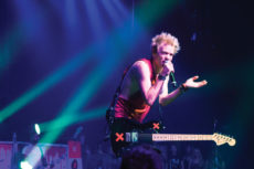 "[Randy Plavajka | The Banner] Sum 41 frontman Deryck Whibley performs with the band at Riverside Municipal Auditorium Nov. 2 as part of the U.S./Canada leg of their ""Don't Call It a Sum-Back Tour."" The band is returning to the stage after a hiatus with a new album featuring its old, familiar sounds."
