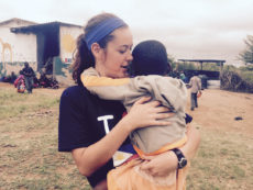 [Photo courtesy of Alexandra Applegate]  Alexandra Applegate, sophomore public relations major, worked outside of Manila, Philippines, for three months with Kids International Ministries at the orphanage. Here she met children like Princess, who she and her five teammates  made smile.