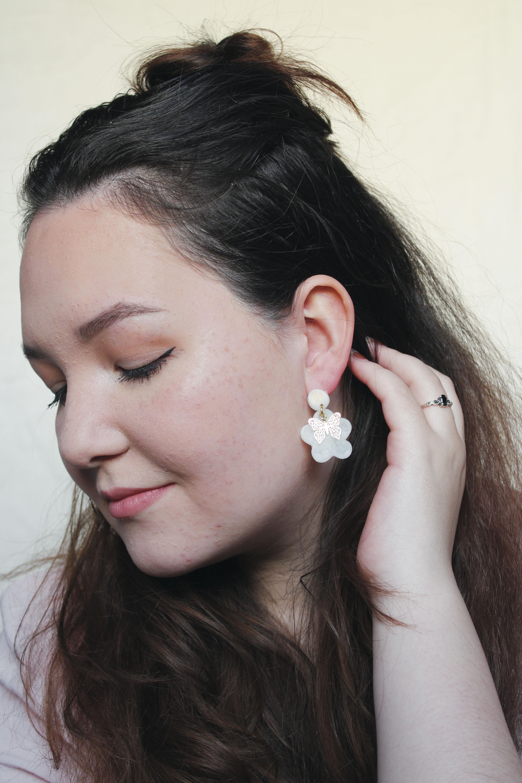 Lightweight Hypoallergenic Statement earring Handmade CLAY EARRINGS